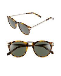 Karen Walker | Brown 'helter Skelter' 48mm Retro Sunglasses - Crazy Tortoise | Lyst