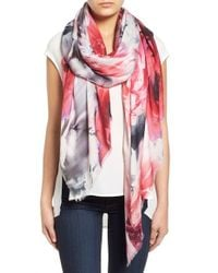 Lily and Lionel | Multicolor 'lyra' Floral Print Modal & Silk Scarf | Lyst
