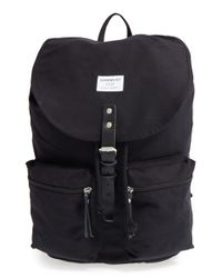 Sandqvist - Black 'roald' Canvas Backpack - Lyst