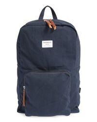 Sandqvist - Blue 'kim' Canvas Backpack - Lyst