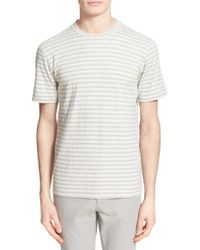 Norse Projects - Gray 'james' Stripe Brushed Cotton T-shirt for Men - Lyst
