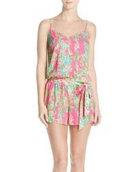 Lilly Pulitzer - Pink Lilly Pulitzer 'deanna' Romper - Lyst