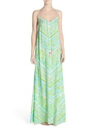Lilly Pulitzer - Green Philomena Print Jersey Maxi Dress - Lyst