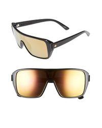Electric | 'blast' 60mm Shield Sunglasses - Gloss Black/ Grey Gold Chrome | Lyst