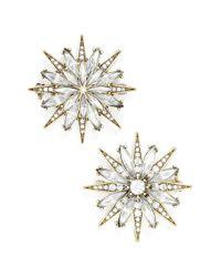 BaubleBar - Metallic 'north Star' Crystal Brooches (set Of 2) - Lyst