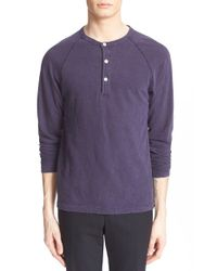 Todd Snyder | Blue Long Sleeve Cotton Jersey Henley for Men | Lyst