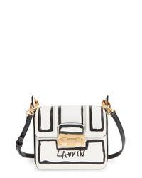 Lanvin - Black 'mini Jiji - Outline' Leather Crossbody Bag - Lyst