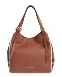 Burberry | Brown 'canterbury' House Check & Leather Tote | Lyst