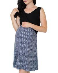 Nom Maternity | Yellow 'lela' Nursing Maternity Dress | Lyst