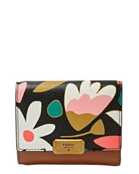 Fossil - Multicolor 'emerson' Leather Trifold Wallet - Lyst
