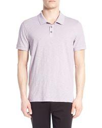 Vince | Pink Slub Cotton Polo for Men | Lyst