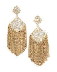 Kendra Scott - Metallic Kimora Fringe Drop Earrings - Lyst