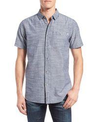 Bench | Gray 'end' Regular Fit Short Sleeve Sport Shirt for Men | Lyst
