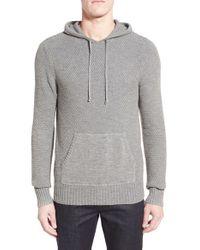 Michael Stars | Gray Textured Jersey Hoodie for Men | Lyst