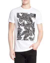 French Connection - White 'parrot Palms' Graphic T-shirt for Men - Lyst