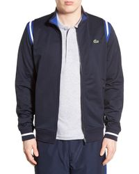 Lacoste - Blue Track Jacket for Men - Lyst