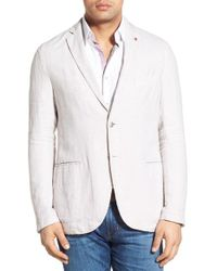 Stone Rose - White Regular Fit Linen Sport Coat for Men - Lyst
