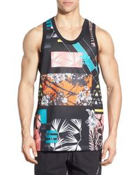 Adidas Originals | Black 'icons Mash Up' Print Mesh Tank for Men | Lyst