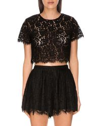 Keepsake - Black 'let It Happen' Lace Crop Top - Lyst