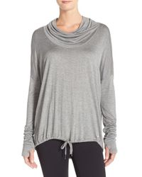 Bench - Gray 'highs' Cowl Neck Top - Lyst