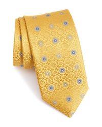 Canali | Yellow Medallion Silk Tie for Men | Lyst