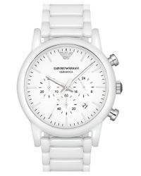 Emporio Armani | Metallic Chronograph Bracelet Watch for Men | Lyst