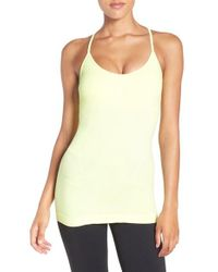 Zella - Yellow Power Pose Crossback Tank - Lyst