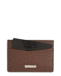 BOSS - Black 'signature' Leather Card Case - Lyst