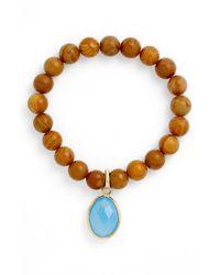 Elise M | Brown 'mumbai' Wood Beaded Bracelet | Lyst