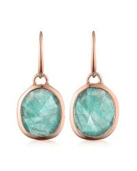Monica Vinader | Blue 'siren' Semiprecious Stone Drop Earrings | Lyst