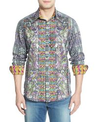 Robert Graham - Gray 'morty - Limited Edition' Classic Fit Sport Shirt for Men - Lyst