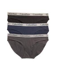 Calvin Klein - Black 'radiant' Stretch Cotton Bikini - Lyst