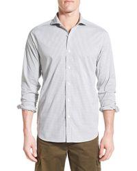 Victorinox - Gray Victorinox Swiss Army 'gibloux' Slim Fit Grid Sport Shirt for Men - Lyst