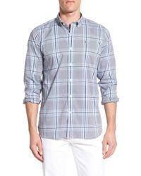 Victorinox - Blue 'bundner' Slim Fit Plaid Sport Shirt for Men - Lyst