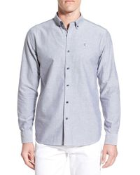 Victorinox - Blue Victorinox Swiss Army 'vogelberg' Slim Fit Oxford Sport Shirt for Men - Lyst