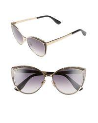 Jimmy Choo   Metallic 56mm Cat Eye Sunglasses   Lyst