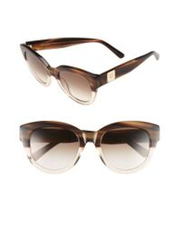 MCM - 53mm Cat Eye Sunglasses - Striped Brown - Lyst