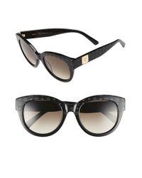 MCM - Gray 53mm Cat Eye Sunglasses - Visetos/ Grey - Lyst