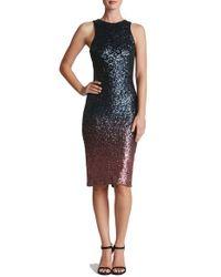 Dress the Population - Multicolor Shawn Sequin Midi Dress - Lyst