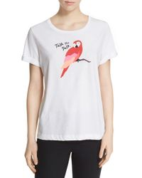 kate spade new york - White 'talk The Talk' Graphic Tee - Lyst
