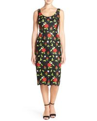 David Meister | Multicolor Embroidered Lace Midi Dress | Lyst