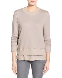 Fine by Superfine - Natural French Terry Sweatshirt - Lyst