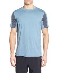 Ibex   Blue 'w2 Sport' Merino Wool Jersey T-shirt for Men   Lyst