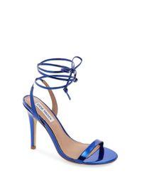 Steve Madden - Blue 'mysty' Ankle Strap Sandal - Lyst