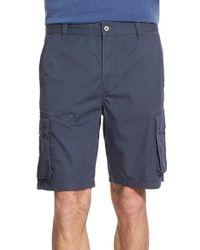 John Varvatos - Blue Cotton Cargo Shorts for Men - Lyst