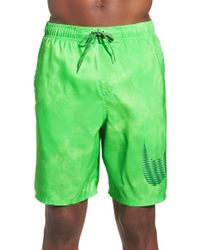 Nike - Green 'solar Fade' Volley Swim Shorts for Men - Lyst