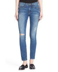 FRAME - Blue 'le Skinny De Jeanne' Jeans - Lyst