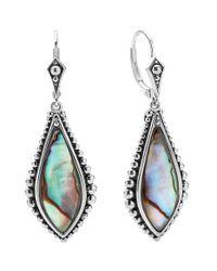 Lagos | Metallic 'contessa' Semiprecious Stone Drop Earrings | Lyst