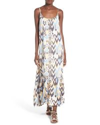 Billabong | White 'wave Chaser' Print Maxi Dress | Lyst