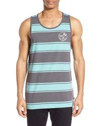 Vans - Blue 'bidwell' Stripe Tank Top for Men - Lyst